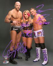 WWE SIGNED PHOTO NATTIE CESARO & TYSON KIDD WRESTLING 8x10 WITH PROOF Natalya