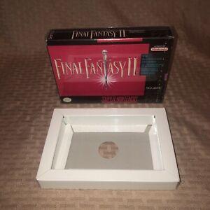 VGC Authentic Original Final Fantasy 2 II Snes Super Nintendo Box + Tray ONLY