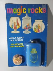 VINTAGE 1971 MAGIC ROCKS MAGIC SOLUTION NEW IN PACKAGING