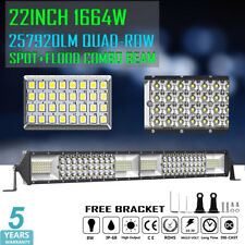 "22inch 1664W LED Light Bar Quad-Row Spot Flood 4WD Truck Pickup Tractor 20"" 24"""