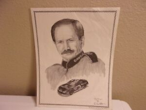 Dale Earnhardt Print, Pencil Drawing by Dale Adkins