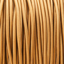 Old Gold (light brown) Ronda Trenzado Tejido Cable 3-core 0.5 mm (Cable Textil)