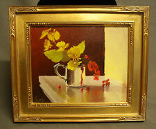 'Berries & Orchids' By Gayle Levee - Framed Oil on Canvas