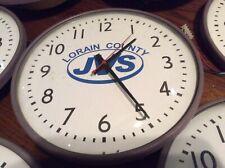 5 Vtg 12� Lorain County Glass / 3/4� Metal Slave Battery Wall Clocks - Very Good