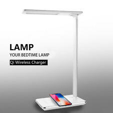 USB Charging 48LED Desk Table Lamp QI Wireless Phone Charger Reading Study Light