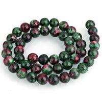 Rubin in Zoisit Edelstein Perlen 10mm Natur Schmucksteine Ruby in Zoisite G251