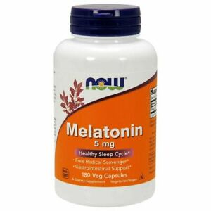 Now Foods Melaton 5mg 180 Kapseln Vege  Besserer Schlaf *DHL* Schnell Versand