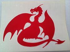 Red Dragon Rub-On car window Sticker New Official Merchandise