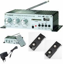 MOBIL MINI MP3-PLAYER MIT RADIO AMPLIFIER REMOTE MIT LINE-IN USB SD-CARD + BOXEN