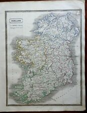 Ireland County Map Ulster Munster Leinster Connacht 1846 scarce map