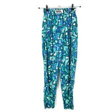 Vtg Deadstock California CraZee Wear Pants Mens S Teal Blue Gym Baggy Nwot Usa