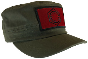 Star Wars First Order Hat 100% Cotton Fatigue Castro Style Cap (RED EMBLEM)