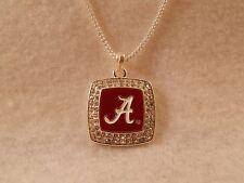 Alabama Crimson Tide Enameled Square Pendant Necklace