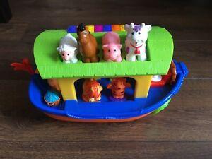 Kiddieland Discovery Push Along Musical Noahs Ark /Keyboard / Shape Sorter Toy.