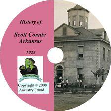 1922 - SCOTT County Arkansas AR - History Genealogy Ancestry -  Waldron, CD DVD