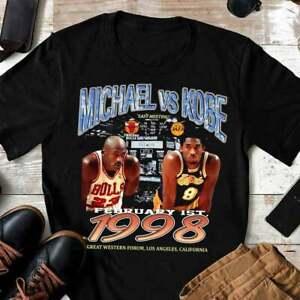 Chicago Bulls Michael Jordan vs Kobe Bryant Shirt Funny Vintage Gift For Men