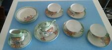 Moving Sale Lusterware Tea Set Cups Saucers  Plates Cream & Sugar Made in Japan