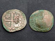 Qiunzain 1594 Contremarqué aux lys. Louis XIII°. Billon