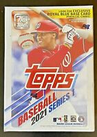 2021 Topps Baseball Series 1 Relic Blaster Box Blue Parallel Card Factory Sealed