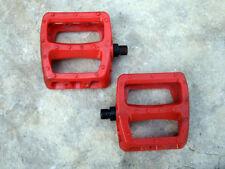 "Used, Odyssey BMX Bike Resin/Plastic Platform Pedals Red, 9/16"" Spindles"