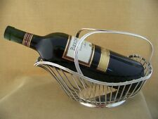 Vintage Christofle Gallia silver plated Wine Bottle Basket Cradle Holder