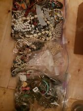 Mixed Lot Of Vintage Costume Jewerly Retro Beaded Necklaces Bracelets heavy lot