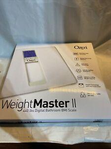 Ozeri ZB20 WeightMaster II 440 lbs Digital Bath Scale w BMI & multi-pers. Memory