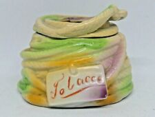 More details for vintage ceramic tabacoo jar. unusual colours. anchor and rope theme. 3.5 inch.