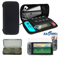 US For Nintendo Switch Carrying Bag Shell Case + Tempered Glass Film + Card Box