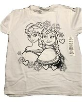 Disney Frozen T-shirt - Colorable - Size Med - New