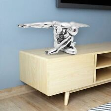 Aluminium Sculpture Home Office Desk Table Sideboard Art Decor Ornament  Silver