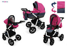 Baby Pram Pushchair Buggy Stroller + Car Seat, Modern Travel System 3 in 1 /2in1