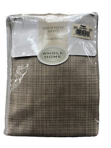 Whole Home Thermal Pinch Pleat Drape Panels 50 84 Tan Empire Oatmeal Taupe Sears