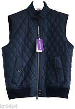 Ralph lauren purple label navy gilet matelassé veste taille l neuf