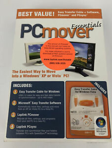Laplink PC Mover Essentials ( CD , Transfer Cable , Quick Start Guide ) PCmover