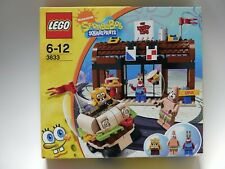 Lego Bob 3833 Spongebob Squarepants Krusty Krab Rare 2009 Brand New Sealed Box