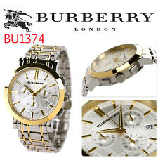 New Burberry BU1374 two Tone Steel Bracelet Men's Watch , NEW With box tags