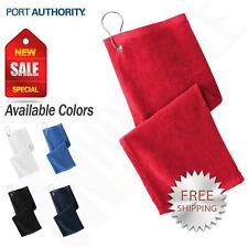 Port Authority  Golf Towel Grommeted 100% Cotton Terry Velour 11x18 Towel PT400