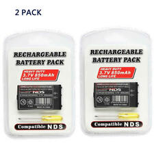 2Pack DS 850mAh Rechargeable Battery Replacemt for Original Nintendo NDS System