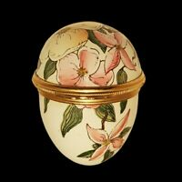 Vintage Halcyon Days Enamels Iris Floral Egg Designed By Tiffany & Co. England