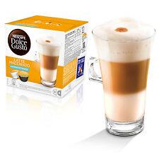 Dolce gusto unsweetend Latte Machiato café (6 Cajas, Total 96 Cápsulas)