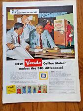 1958 Vendo Coffee Maker Vending Machine Ad