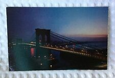 Nester's Map & Guide - New York City - Postcard - Brooklyn Bridge