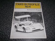 Booklet. The Chaparral 2, 2D and 2F. Cars in Profile No 4. Pete Lyons. 1st. 1972