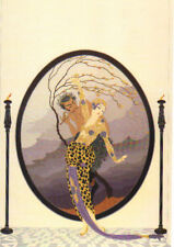 "ERTE ART DECO BOOK PRINT ""WOMAN &SATYR"" MYTHICAL HALF-MAN PLAYS FLUTE FOR WOMAN"