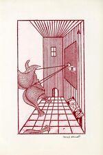 "Max Ernst  Rare Lithograph - ""Zu: Brusberg Dokumente 3"". Hand Signed by Artist"