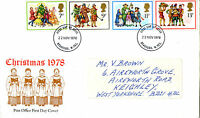 22 NOVEMBER 1978 CHRISTMAS POST OFFICE FIRST DAY COVER BRADFORD W YORKS FDI