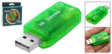 SCHEDA AUDIO 3D 5.1 USB PC NOTEBOOK HOME THEATRE SOUND