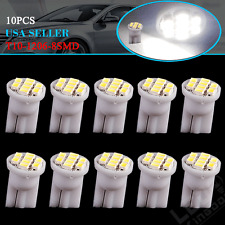 10x Super White T10 8SMD LED Interior License Light Instrument Bulbs W5W 168 194