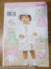 Butterick Pattern B3782 Infants' Jacket, Dress, Panties and Hat OSZ